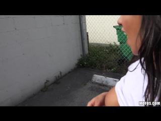 Mixed race blowjob she